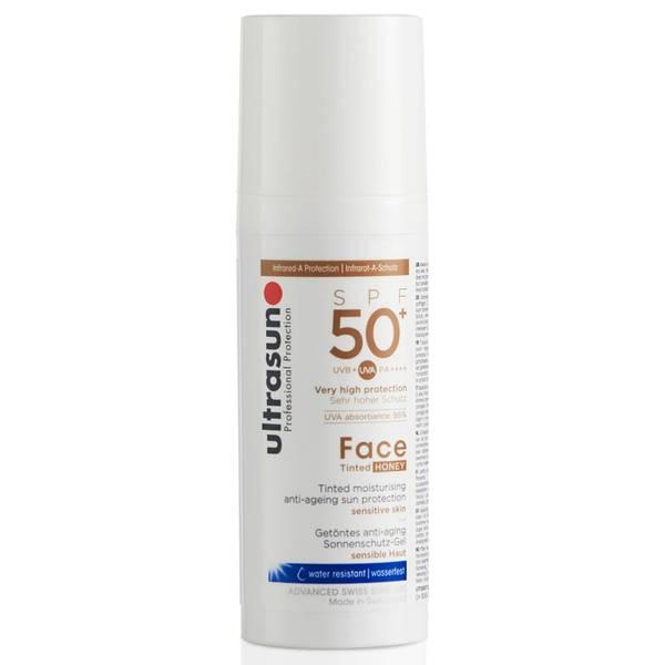 Crème solaire pour le visage teintée SPF50 de Ultrasun (différentes teintes)