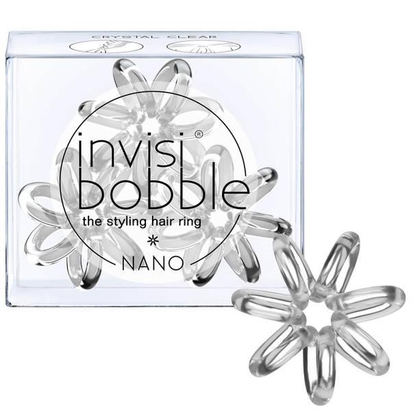Goma de pelo invisibobble nano (3 unidades) - Crystal Clear