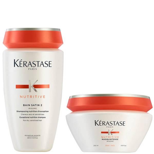 Kérastase Nutritive Bain Satin 2 250ml & Masquintense Cheveux Epais (Für dickes Haar) 200ml
