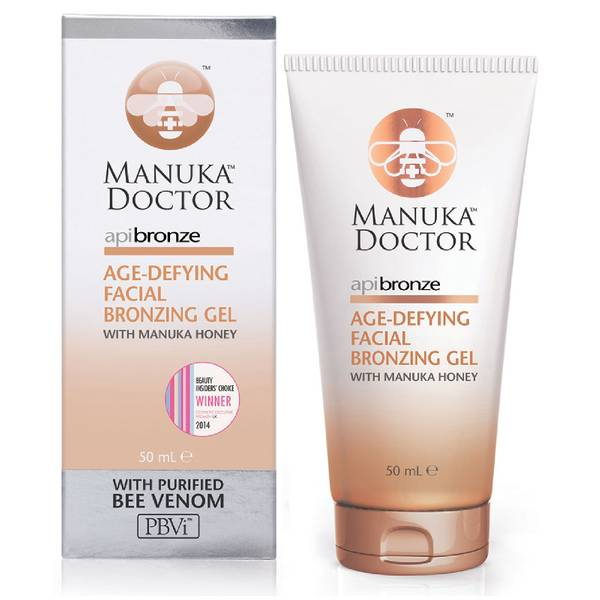 Gel bronceador anti-envejecimiento ApiBronze de Manuka Doctor de 50 ml