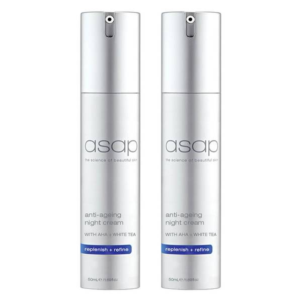 2 x asap Anti-Ageing Night Cream 50ml