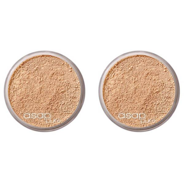 2 x asap Pure Mineral Makeup - One 8g