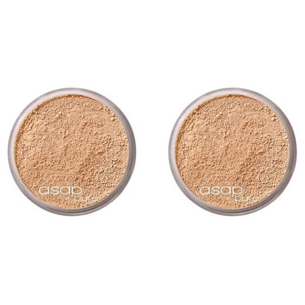 2 x asap Pure Mineral Makeup - Three 8g