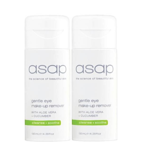 2x asap gentle eye make-up remover 130ml
