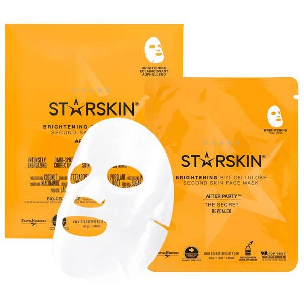 STARSKIN After Party™ Coconut Bio-Cellulose Second Skin Brightening Face Mask(스타스킨 애프터 파티™ 코코넛 바이오 셀룰로스 세컨드 스킨 브라이트닝 페이스 마스크)