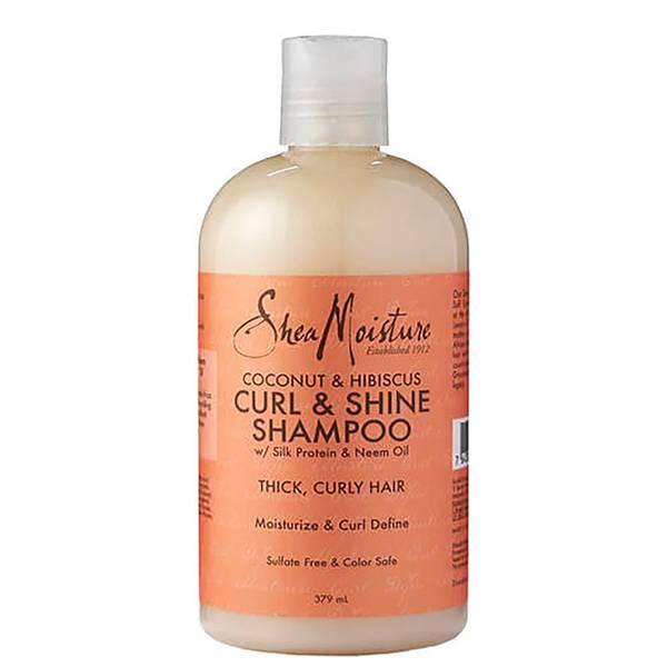 Shea Moisture Shampoing Brillance Rehausseur de Boucles à la Noix de Coco et l'Hibiscus (379 ml)