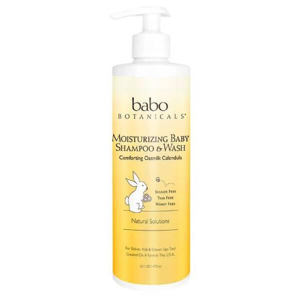 Babo Botanicals Moisturizing Baby Shampoo & Wash (Family Size)