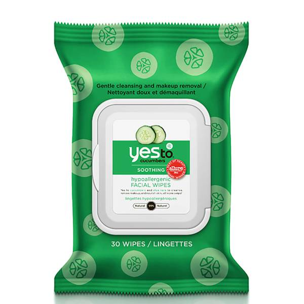 yes to Cucumbers Hypoallergenic Facial Wipes(예스 투 큐컴버 하이포알러제닉 페이셜 와이프 30팩)