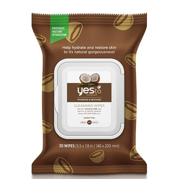 yes to Coconut Cleansing Wipes -puhdistusliinat (30 kpl pakkaus)