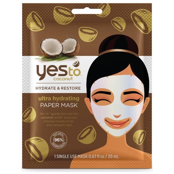 Mascarilla de papel ultrahidratante de coco de yes to