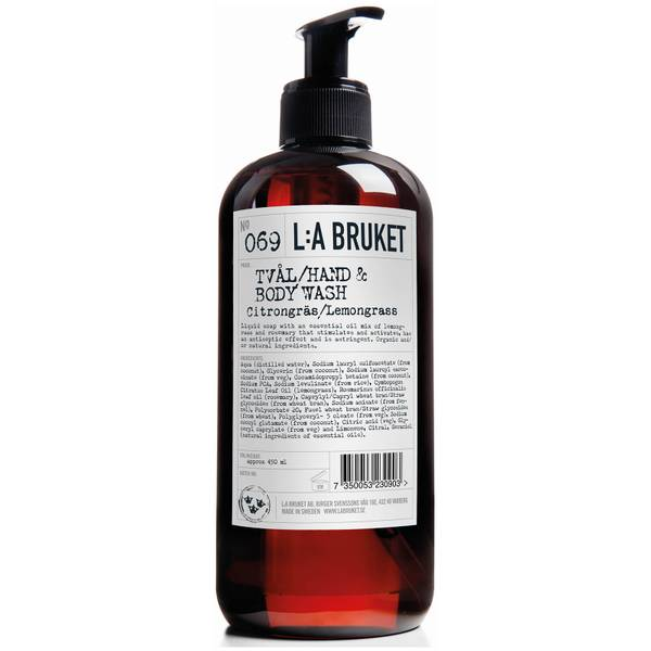 L:A BRUKET No. 069 Hand & Body Wash 450ml - Lemongrass
