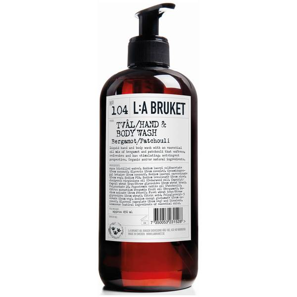 L:A BRUKET No. 104 Hand & Body Wash 450ml - Bergamot/Patchouli