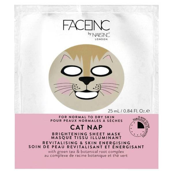 Masque Tissu Illuminant FACEINC by nails inc. - Soin de Peau Revitalisant et Énergisant