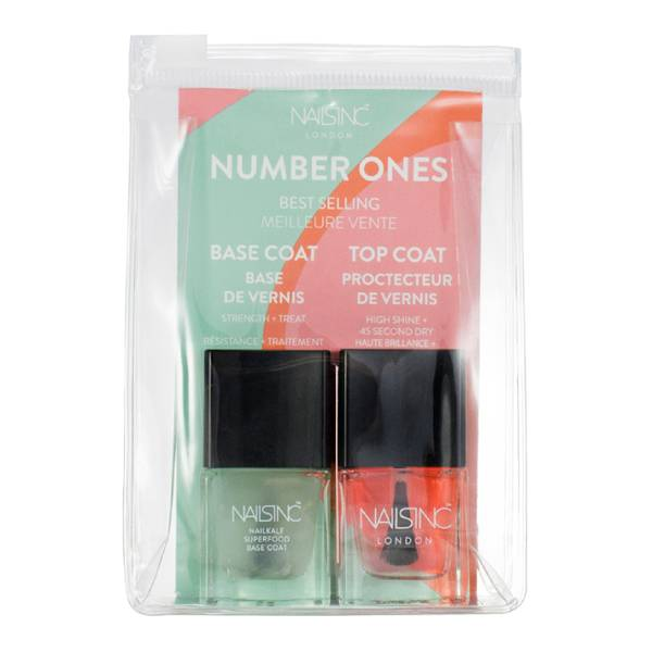 nails inc. Number 1's Base and Top Coat Duo 2 x 5ml