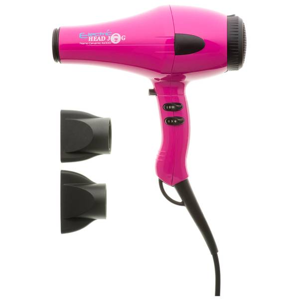 Electric Head Jog Nano Ceramic 6000 Hair Dryer - Pink