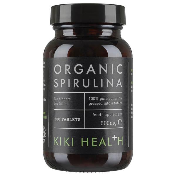 KIKI Health Organic Spirulina Tablets spirulina kapsułki (200 kapsułek)