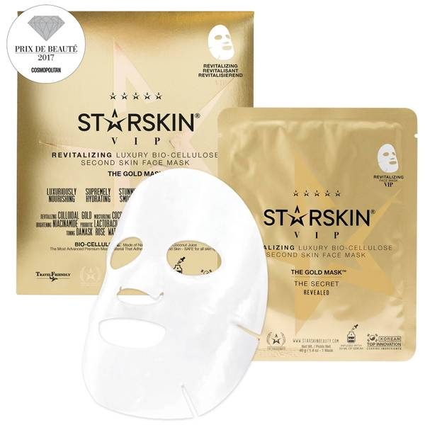 STARSKIN The Gold Mask™ VIP Revitalizing Luxury Coconut Bio-Cellulose Second Skin Face Mask