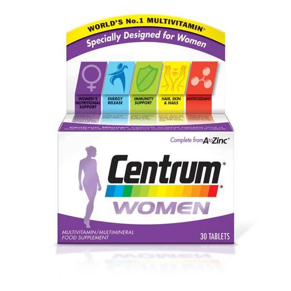 أقراص الفيتامينات المتعددة للنساء من Centrum - (30 قرص)