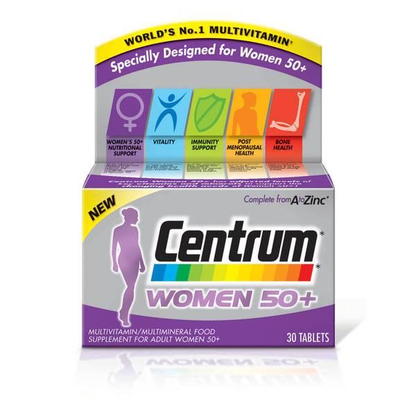 أقراص الفيتامينات المتعددة Women 50 Plus للنساء من Centrum - (30 قرص)
