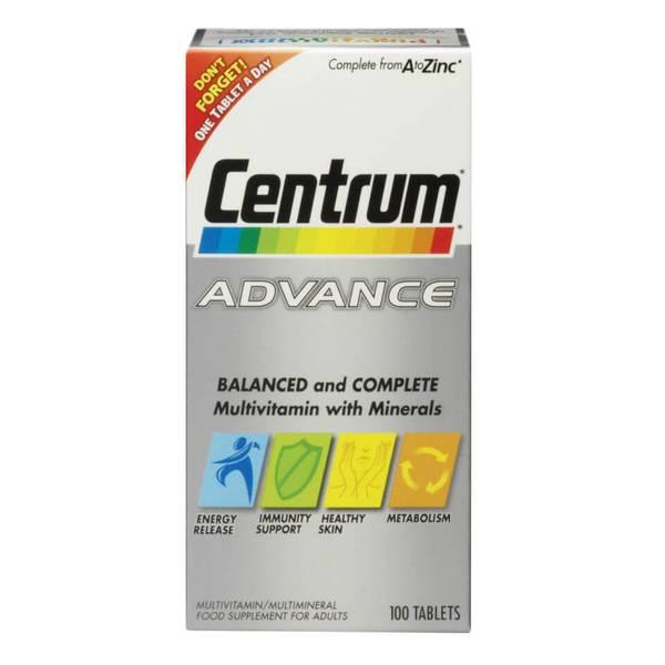 أقراص الفيتامينات المتعددة Advance من Centrum - (60 قرص)