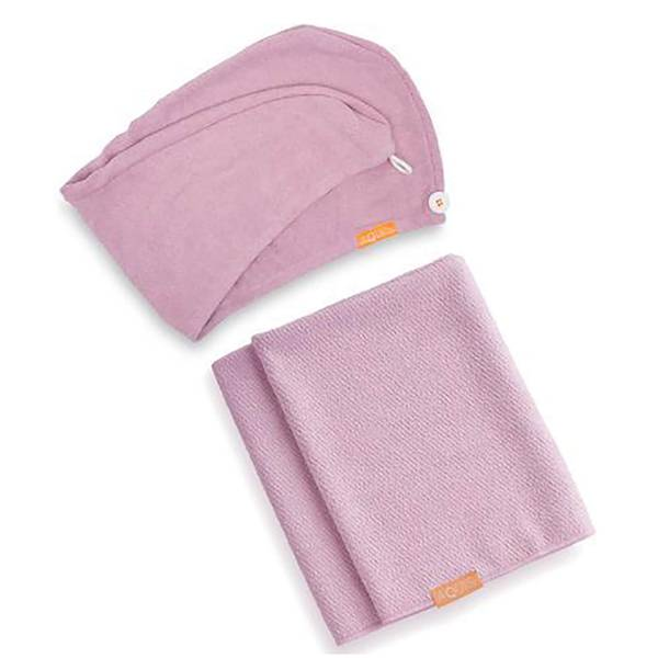 Aquis Lisse Luxe Hair Turban and Hair Towel - Desert Rose Bundle (Worth £60)