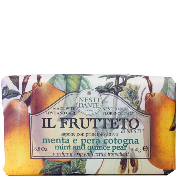 Натуральное мыло «Мята, айва и груша» Nesti Dante Il Frutteto Mint and Quince Pear Soap 250г