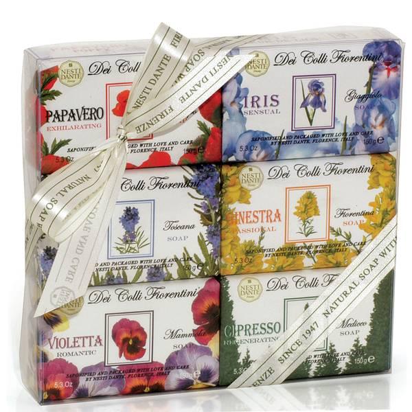 Nesti Dante Dei Colli Fiorentini Soap Collection Set(네스티 단테 데이 콜리 피오렌티니 솝 컬렉션 세트 6 x 150g)
