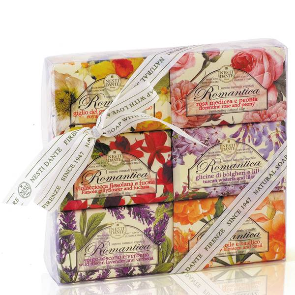 Nesti Dante Romantica Soap Collection Set 6x150g