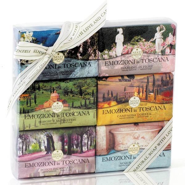 Nesti Dante Emozioni in Toscana Soap Collection Set(네스티 단테 에모지오니 인 토스카나 솝 컬렉션 세트 6 x 150g)