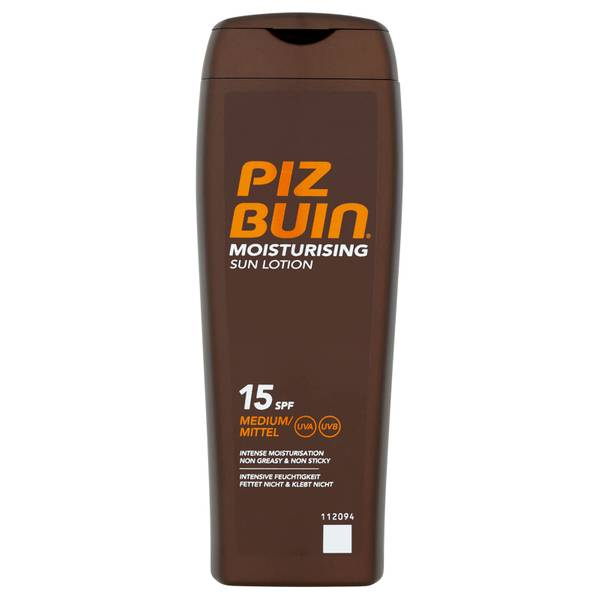 Piz Buin Moisturising Sun Lotion - Medium SPF15(피즈 뷰 모이스처라이징 선 로션 - 미디엄 SPF15 200ml)