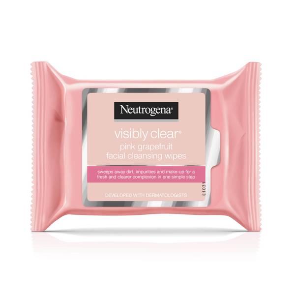 Neutrogena Pink Grapefruit Medicated Facial Wipes (25 Wipes)