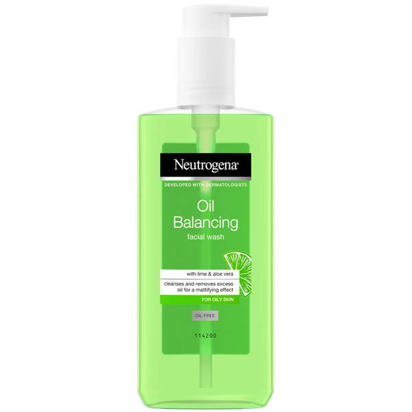 Neutrogena Oil Balancing Facial Wash with Lime and Aloe Vera for Oily Skin 200ml