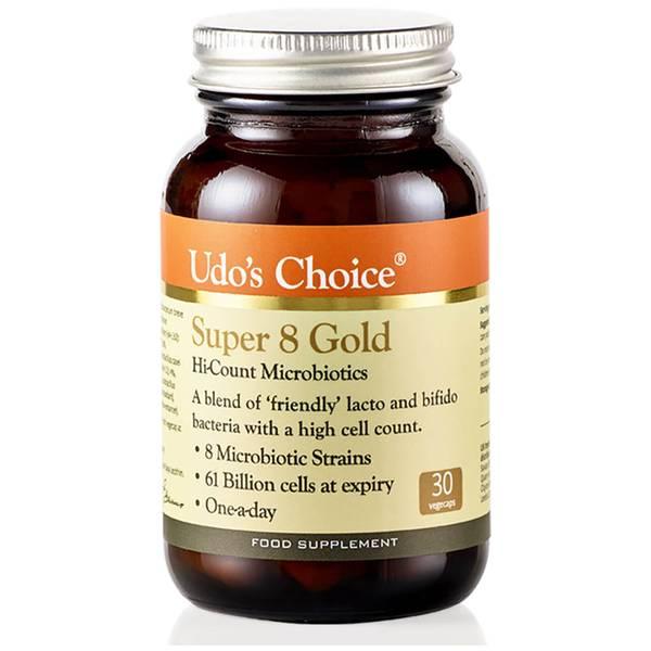 Микробиотическая смесь восьми штаммов суперполезных бактерий — Udo's Choice Super 8 GOLD Microbiotics— 30капсул