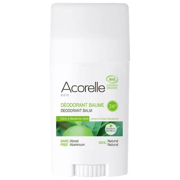 Desodorante orgánico y balsámico en stick con mandarina verde y limón de Acorelle 40 g