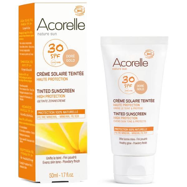 Acorelle Organic Tinted SPF30 Sunscreen - Gold 50ml