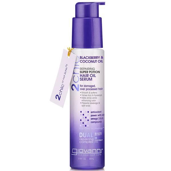 Sérum-Huile Réparateur pour les Cheveux Super Potion 2chic® Giovanni 81 ml