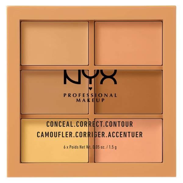 NYX 3C 修容盤 - 遮瑕、調色、修容 - 中