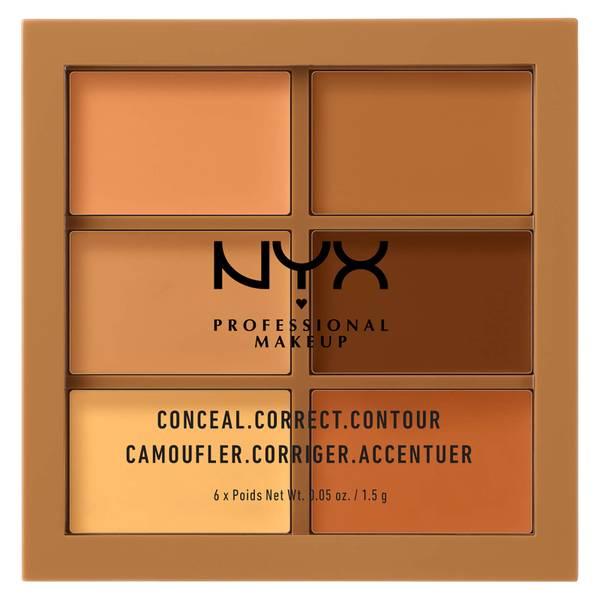 NYX 프로페셔널 메이크업 3C 팔레트 - 컨실, 코렉트, 컨투어 - 딥 (NYX PROFESSIONAL MAKEUP 3C PALETTE - CONCEAL, CORRECT, CONTOUR - DEEP)