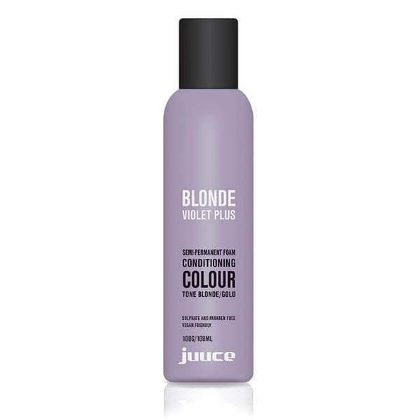 Juuce Blonde Violet Plus Semi-Permanent Foam Conditioner Blonde/Gold 100g