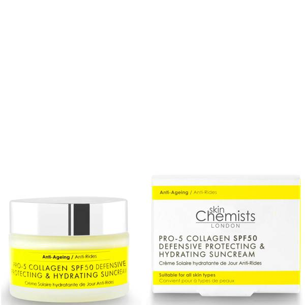 skinChemists London Pro-5 Collagen SPF50 Defensive Anti-Ageing Protecting Hydrating Sun Cream 50ml