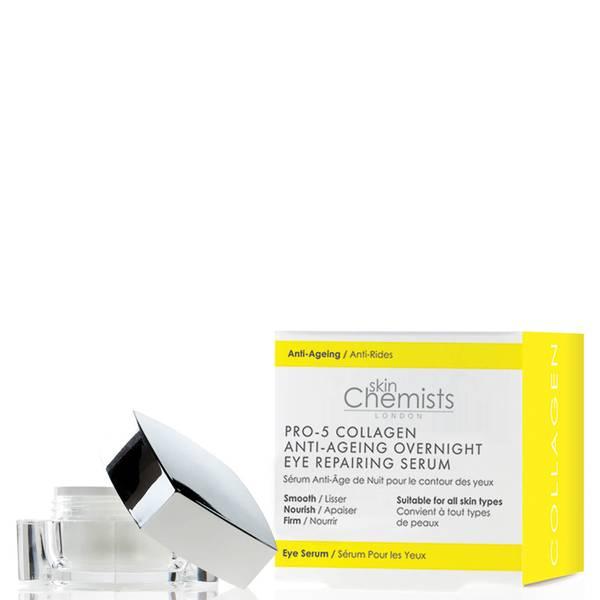 skinChemists London Pro-5 Collagen Anti-Ageing Overnight Eye Repairing Serum 15ml