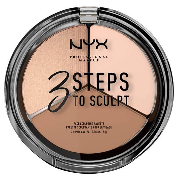 NYX 프로페셔널 메이크업 3 스텝 투 스컬프트 페이스 스컬프팅 팔레트 - 페어 (NYX PROFESSIONAL MAKEUP 3 STEPS TO SCULPT FACE SCULPTING PALETTE - FAIR)