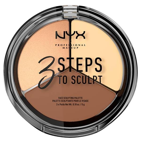 NYX Professional Makeup 3 Steps to Sculpt Face Sculpting Palette – Light