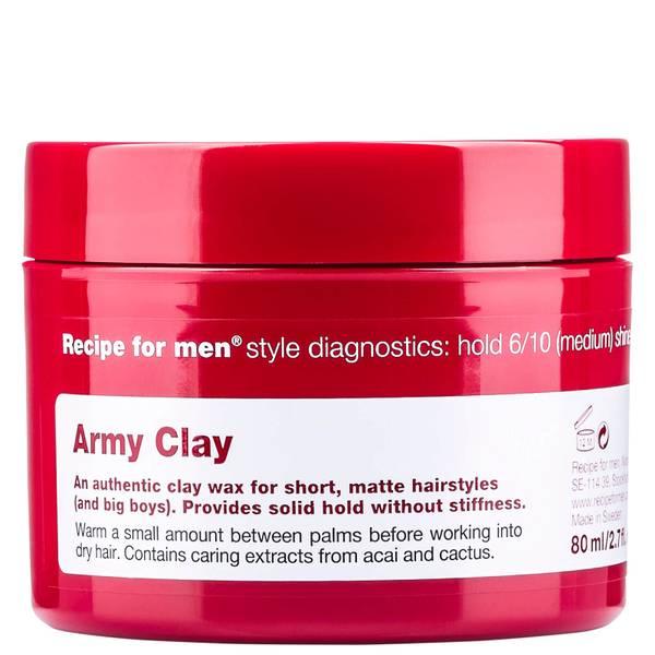 Глина-воск для укладки волос «Армия», мужская линия Recipe for Men Army Clay Wax 80мл