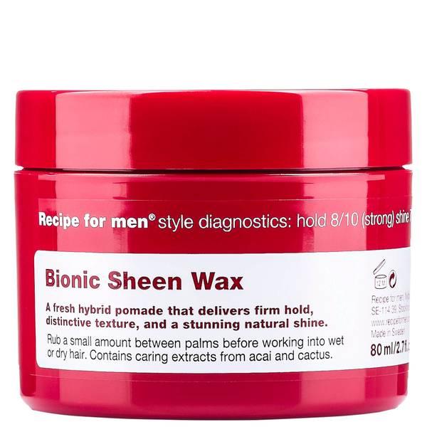 Придающий сияние воск для укладки волос, мужская линия Recipe for Men Bionic Sheen Wax 80мл