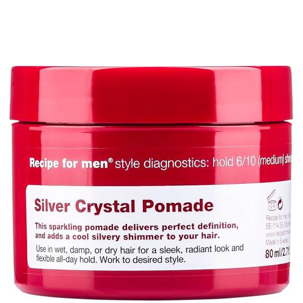 Придающая серебряный блеск помада для укладки волос, мужская линия Recipe for Men Silver Crystal Pomade 80мл