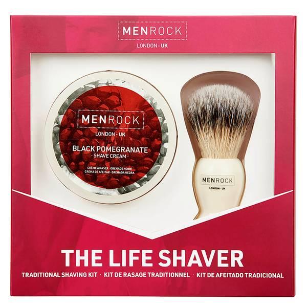 Men Rock The Life Shaver (Black Pomegranate Shave Cream, The Brush)