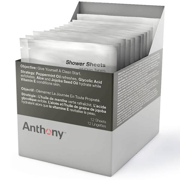 Anthony 乾洗澡潔膚紙巾(12 片)