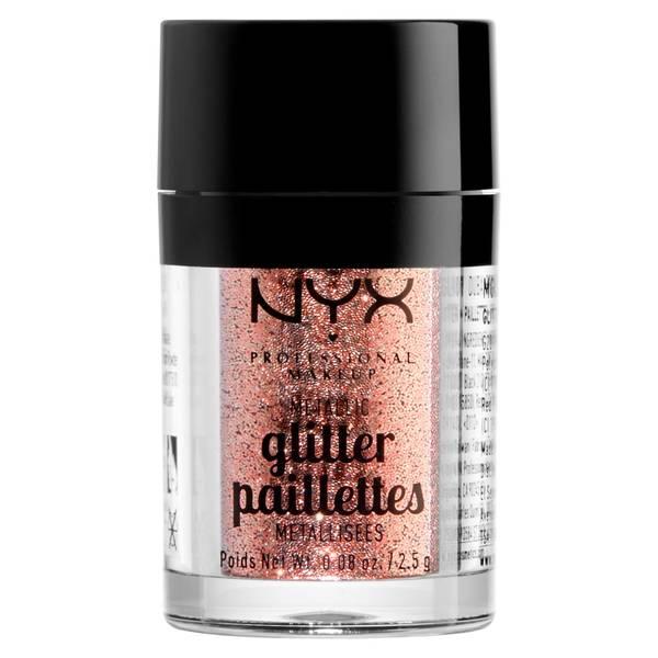 NYX Professional Makeup メタリック グリッター - ドバイ ブロンズ
