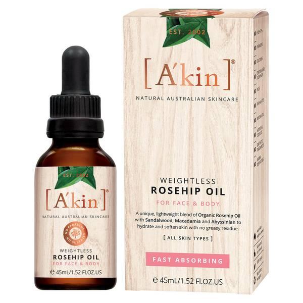 A'kin Weightless Rosehip Oil 45ml